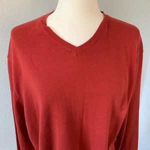 J Crew Dark Orange Pullover Sweater Size XL